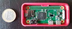 Ein raspberry zero in einem Gehäuse